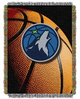 "Minnesota Timberwolves NBA ""Photo Real"" Woven Tapestry Throw"