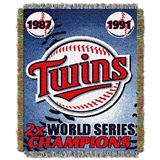 "Minnesota Twins MLB ""Commemorative Woven Tapestry Throw"
