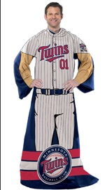 "Minnesota Twins MLB ""Uniform"" Adult Comfy Throw"