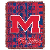 "Mississippi Rebels NCAA ""Double Play"" Woven Jacquard Throw"