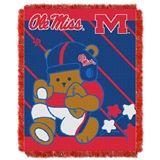 "Mississippi Rebels NCAA ""Fullback"" Baby Woven Jacquard Throw"