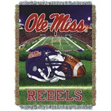 "Mississippi Rebels NCAA ""Home Field Advantage"" Woven Tapestry Throw"