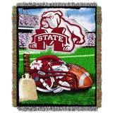 "Mississippi St Bulldogs NCAA ""Home Field Advantage"" Woven Tapestry Thr"