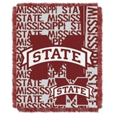"Mississippi State Bulldogs NCAA ""Double Play"" Woven Jacquard Throw"