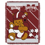 "Mississippi State Bulldogs NCAA ""Fullback"" Baby Woven Jacquard Throw"
