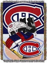 "Montreal Canadiens NHL ""Home Ice Advantage"" Woven Tapestry Throw"