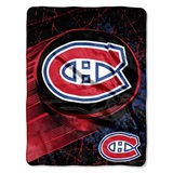 "Montreal Canadiens NHL ""Ice Dash"" Micro Raschel Throw"