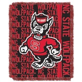 "NC State Wolfpacks NCAA ""Double Play"" Woven Jacquard Throw"