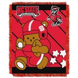 "N.C. State  Wolfpacks NCAA ""Fullback"" Baby Woven Jacquard Throw"