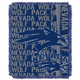 "Nevada Reno Wolfpacks NCAA ""Double Play"" Woven Jacquard Throw"