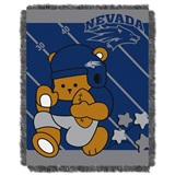 "Nevada Reno  Wolfpacks NCAA ""Fullback"" Baby Woven Jacquard Throw"