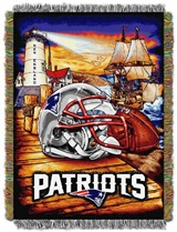 "New England Patriots NFL ""Home Field Advantage"" Woven Tapestry Throw"