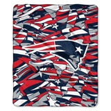 "New England Patriots NFL ""Quicksnap"" Raschel Throw"