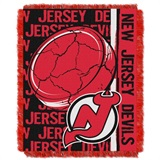 "New Jersey Devils NHL ""Double Play"" Woven Jacquard Throw"