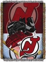 "New Jersey Devils NHL ""Home Ice Advantage"" Woven Tapestry Throw"