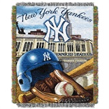 "New York Yankees MLB ""Home Field Advantage"" Woven Tapestry Throw"
