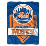 "New York Mets MLB ""Home Plate"" Raschel Throw"