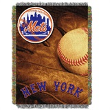 "New York Mets MLB ""Vintage"" Woven Tapestry Throw"