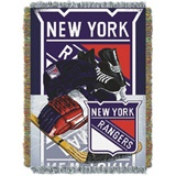 "New York Rangers NHL ""Home Ice Advantage"" Woven Tapestry Throw"