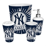 New York Yankees MLB 4 piece Bath Set