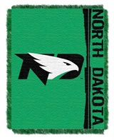 "North Dakota Fighting Sioux NCAA ""Double Play"" Woven Jacquard Throw"