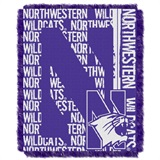"Northwestern Wildcats NCAA ""Double Play"" Woven Jacquard Throw"