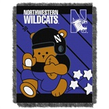 "Northwestern Wildcats NCAA ""Fullback"" Baby Woven Jacquard Throw"