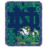 "Notre Dame Fighting Irish NCAA ""Double Play"" Woven Jacquard Throw"