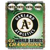 "Oakland Athletics MLB ""Commemorative Woven Tapestry Throw"