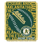 "Oakland Athletics MLB ""Double Play"" Woven Jacquard Throw"