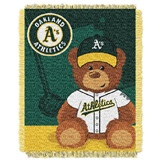 "Oakland Athletics MLB ""Field Bear"" Baby Woven Jacquard Throw"