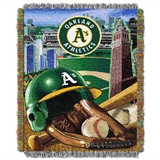 "Oakland Athletics MLB ""Home Field Advantage"" Woven Tapestry Throw"
