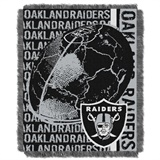 "Oakland Raiders NFL ""Double Play"" Woven Jaquard Throw"