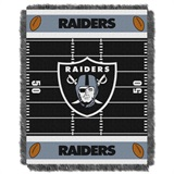 "Oakland Raiders NFL ""Field"" Baby Woven Jacquard Throw"