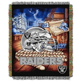"Oakland Raiders NFL ""Home Field Advantage"" Woven Tapestry Throw"