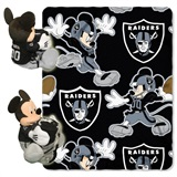 Oakland Raiders NFL Mickey Mouse Shaped Pillow and Throw Set