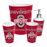 Ohio State Buckeyes NCAA 4-Piece Bath Set