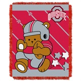 "Ohio State  Buckeyes NCAA ""Fullback"" Baby Woven Jacquard Throw"