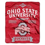 "Ohio State ""Label"" Raschel Throw"