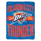 "Oklahoma City Thunder NBA ""Clear Out"" Micro Raschel Throw"