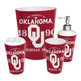 Oklahoma Sooners NCAA 4-Piece Bath Set
