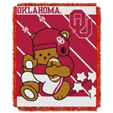 "Oklahoma  Sooners NCAA ""Fullback"" Baby Woven Jacquard Throw"