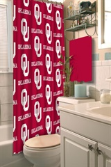 Oklahoma Sooners NCAA Shower Curtain