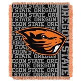 "Oregon State Beavers NCAA ""Double Play"" Woven Jacquard Throw"