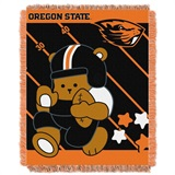 "Oregon State  Beavers NCAA ""Fullback"" Baby Woven Jacquard Throw"