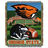 "Oregon State Beavers NCAA ""Home Field Advantage"" Woven Tapestry Throw"