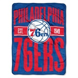 "Philadelphia 76ers NBA ""Clear Out"" Micro Raschel Throw"