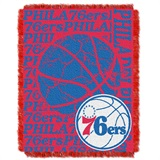 "Philadelphia 76ers NBA ""Double Play"" Woven Jacquard Throw"