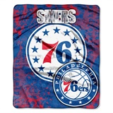 "Philadelphia 76ers NBA ""Dropdown"" Raschel Throw"