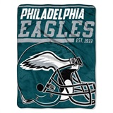 "Philadelphia Eagles NFL ""40 yard Dash"" Micro Raschel Throw"